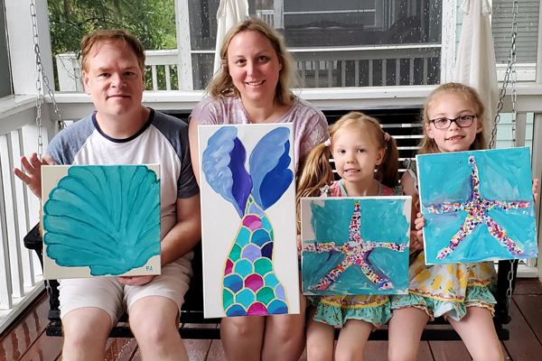 paint party on fripp island