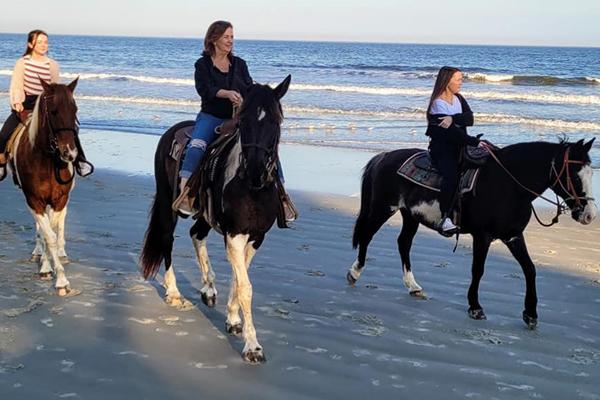 Horseback riding near Fripp Island
